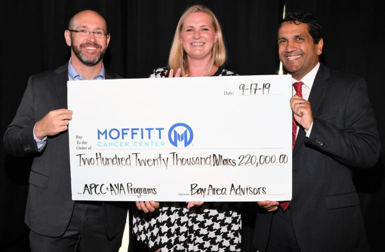 Kass Shuler Attends Check Presentation to Moffitt Cancer Center