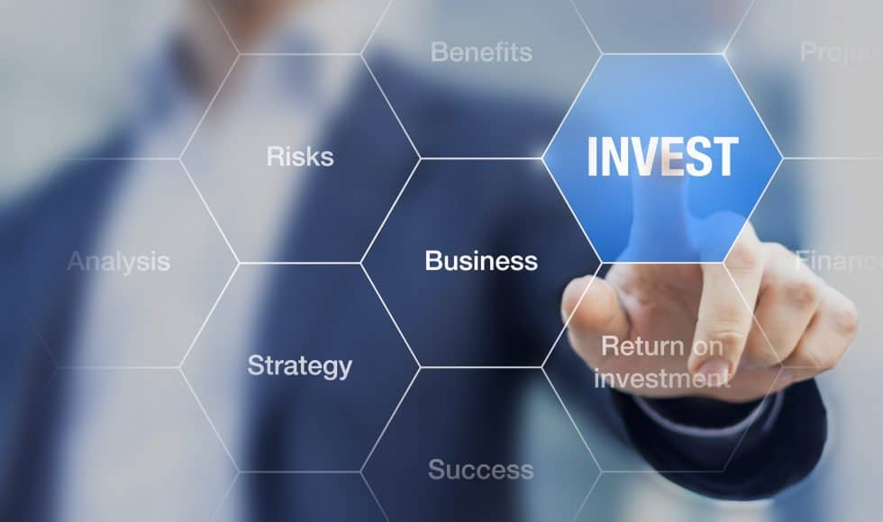 Teacher presenting investment strategy